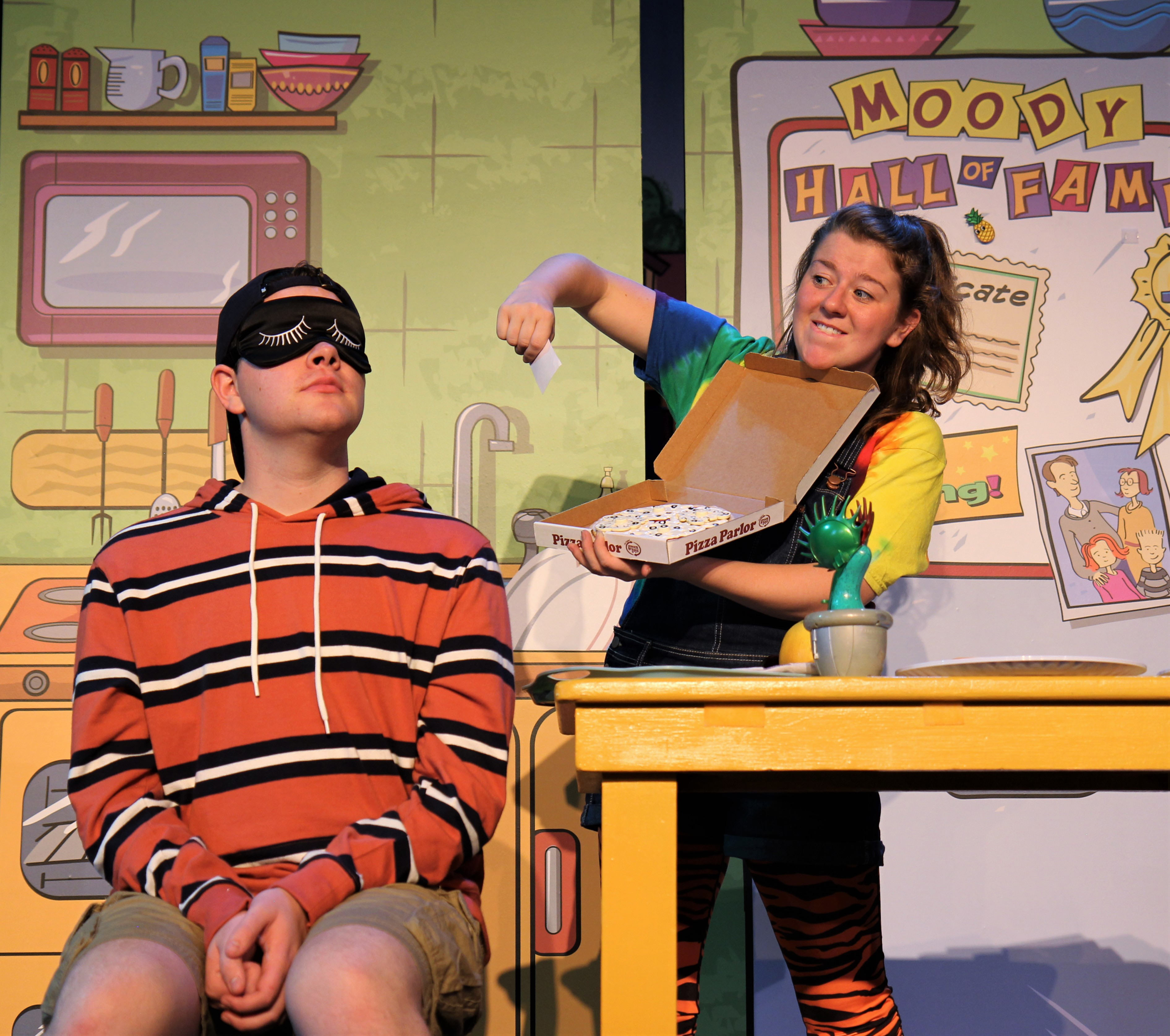 Erin Lynn Hassett (as Judy Moody) and Frank Monier (as Stink Moody)