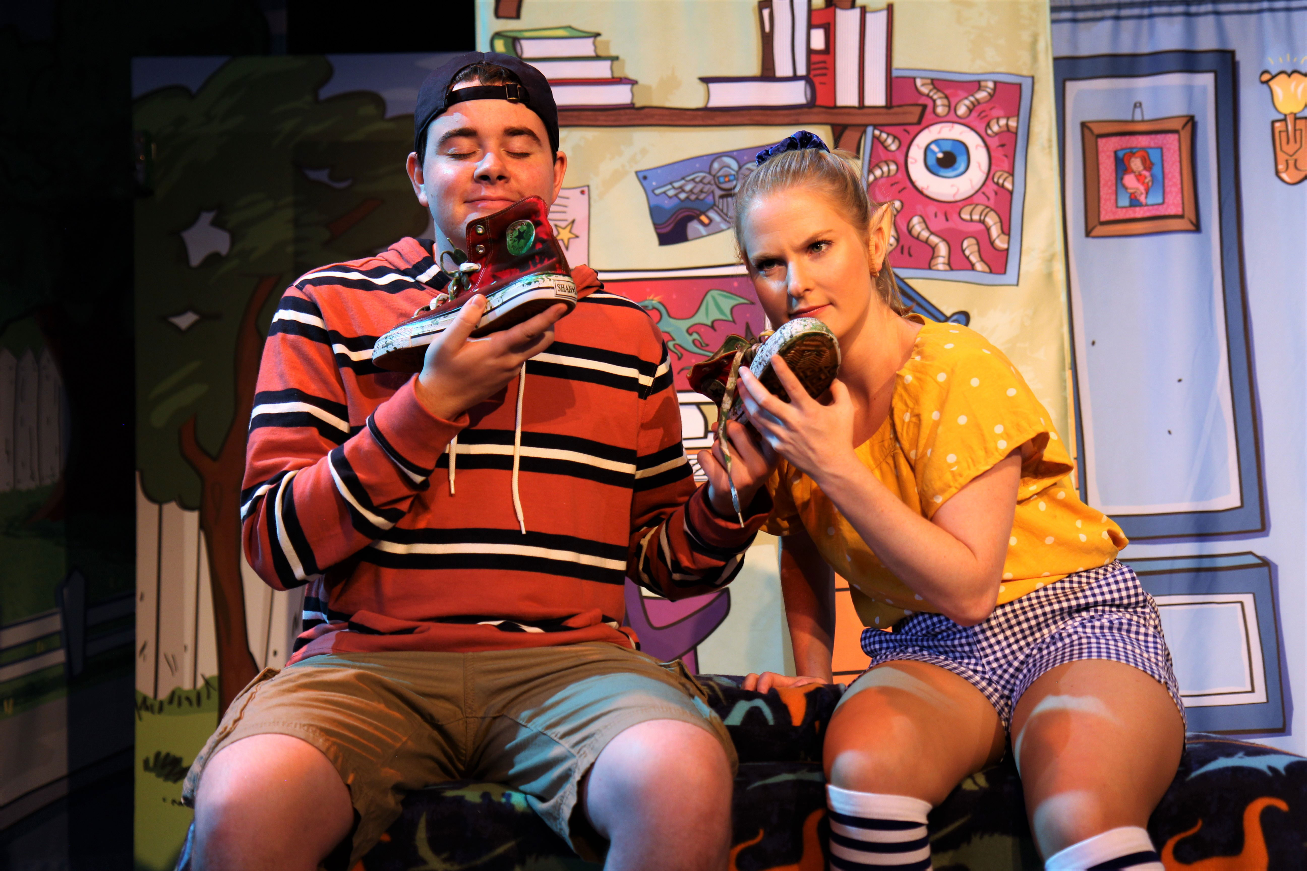 Frank Monier (as Stink Moody) and Jeorgi Smith (as Sophie of the Elves)