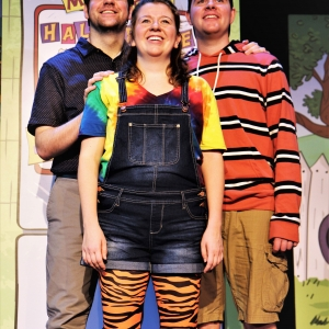 Isaiah Hein (as Dad), Erin Lynn Hassett (as Judy Moody), and Frank Monier (as Stink Moody)