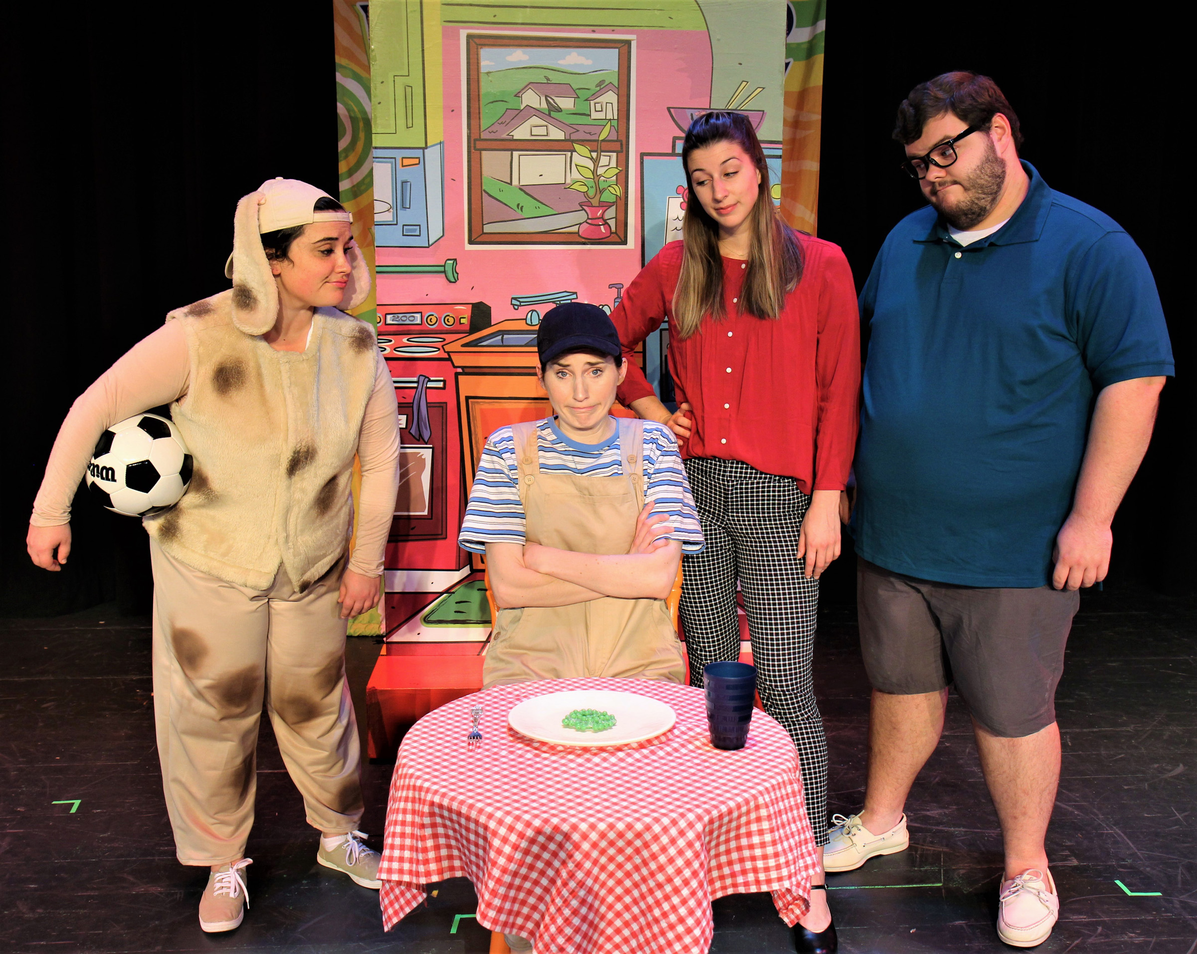 Gia Erichson (as Ralph), Marth Brown (as Danny), Alexis Lounsbury (as Mom), and Alex Lukenbaugh (as Dad/Monster)